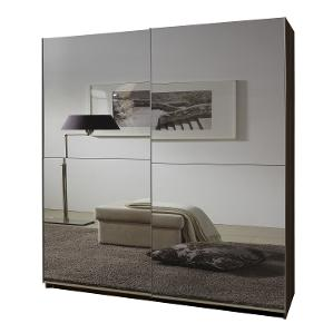 Grey mirror sliding door wardrobe, sliding door wardrobe