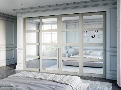 contemporary and classical hardwood frame sliding doors